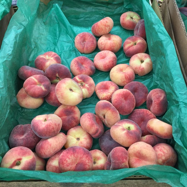 The donut peaches are awesome. So fresh, juicy and sweet.