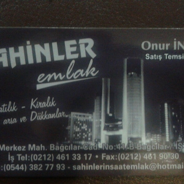 Photo taken at Bağcılar şahinler inşaat emlak by Onur I. on 8/16/2013