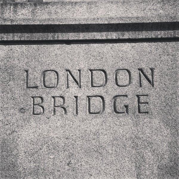 Photo taken at London Bridge by N. on 7/18/2013