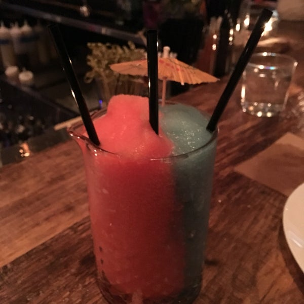 At the tiki bar? Ask for Sam and Skylar's signature drink... The Miami Vice