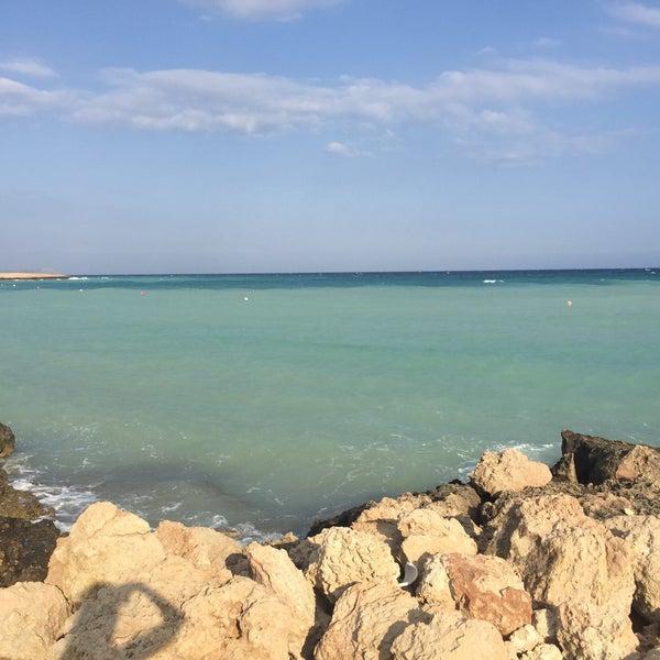 Photo taken at Makronissos Beach by Lis 💎 on 6/20/2017