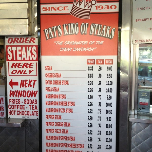 Photo taken at Pat's King of Steaks by Buzz B. on 7/10/2013