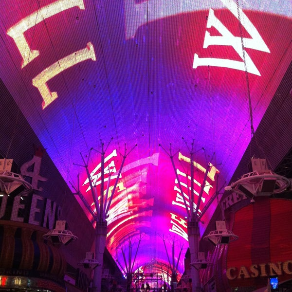 Wonderful light show with the biggest outdoor screen as the roof of the whole walk way. Great bands along the walk.