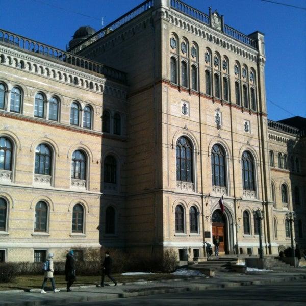 Photo taken at University of Latvia by Максим Я. on 3/19/2013