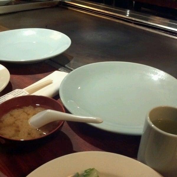 Photo taken at Mt. Fuji Japanese Steak House by Myrrah G. on 3/8/2013