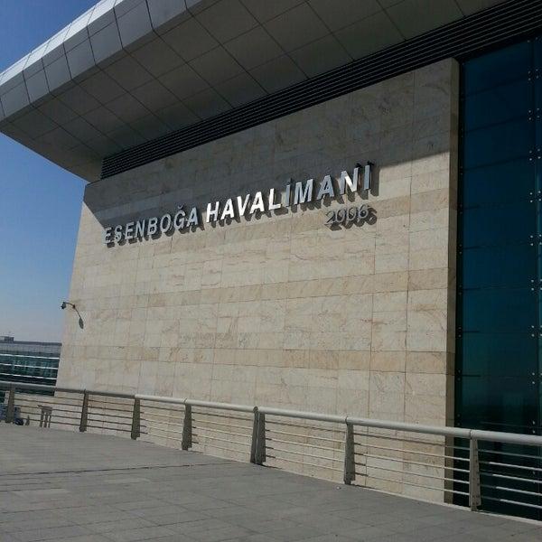 Photo taken at Ankara Esenboğa Airport (ESB) by İbrahim on 10/22/2013