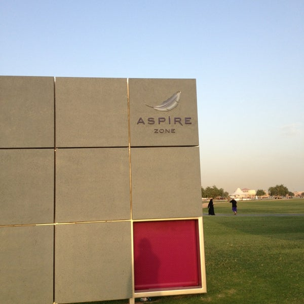 Photo taken at Aspire Park by Sara A. on 4/16/2013