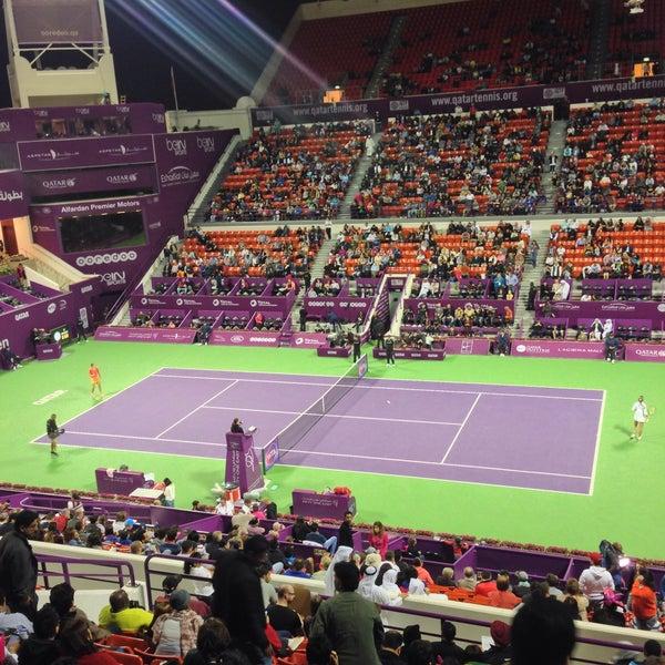 Photo taken at Qatar Tennis Federation by Mehmet D. on 2/26/2016