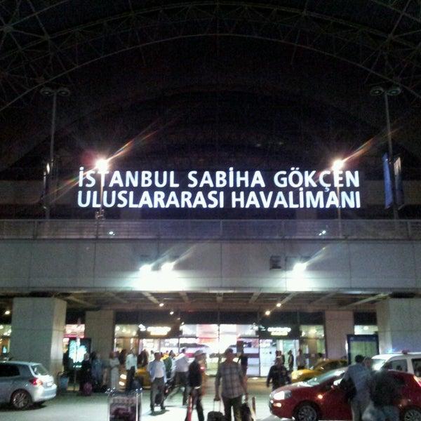 Photo taken at Istanbul Sabiha Gökçen International Airport (SAW) by Berkant D. on 5/9/2013