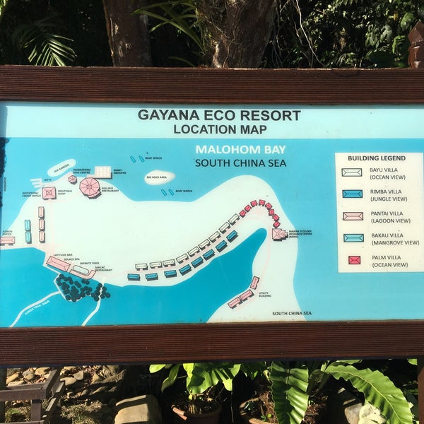 Photo taken at Gayana Eco Resort by Xanga K. on 2/25/2016