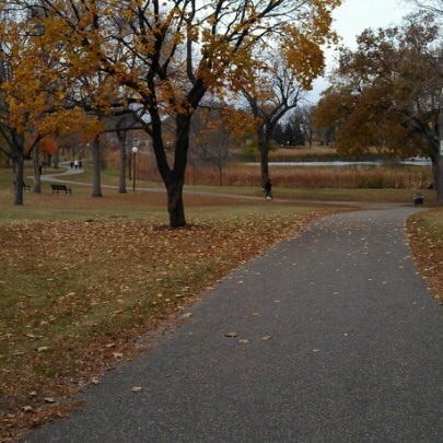 Photo taken at Loring Park by Morgan J. on 10/28/2012