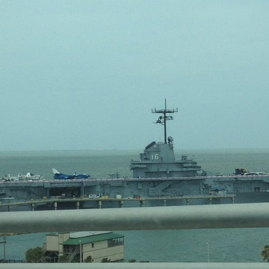 Photo taken at USS Lexington Museum On The Bay by Cori C. on 7/1/2012