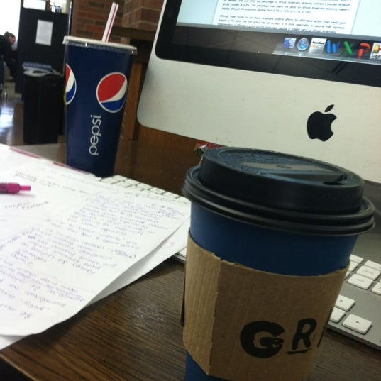 Photo taken at UWM Golda Meir Library by Brittany M. on 4/9/2012