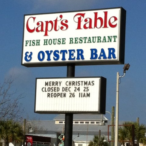 Captain 39 s table fish house restaurant 30 tips for One fish two fish restaurant