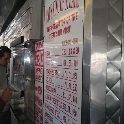 Photo taken at Pat's King of Steaks by amanda b. on 11/6/2011