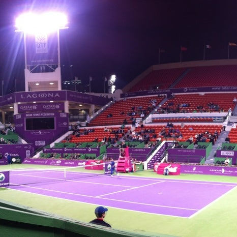 Photo taken at Qatar Tennis Federation by Mohsin A. on 2/13/2012