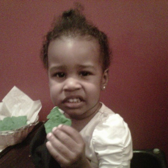 My niece was not too fond of the green St. Patrick Day tortilla chips