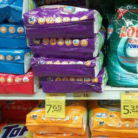 Photo taken at NTUC FairPrice by Ant L. on 4/25/2012