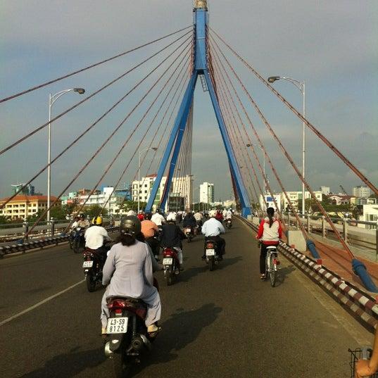 Photo taken at Han River Bridge by Ryan F. on 3/22/2012