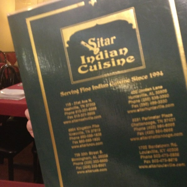 Sitar Indian Restaurant Chattanooga