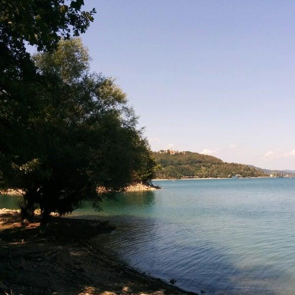 Photo taken at Lago di Suviana by Eleonora R. on 8/10/2014
