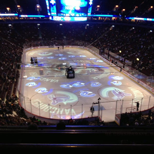 Photo taken at Rogers Arena by Derrick S. on 4/23/2013