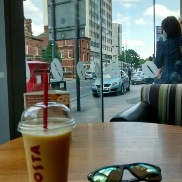 Photo taken at Costa Coffee by Jānis Z. on 8/7/2015