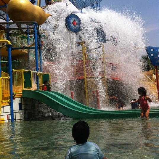 Photo taken at Waterbom Jakarta by Alcia R. on 7/12/2013