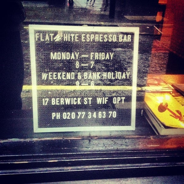 Photo taken at Flat White by Miguel C. on 12/20/2012