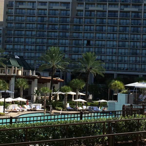 Photo taken at Marriott World Center Pool by Mark L. on 9/4/2016