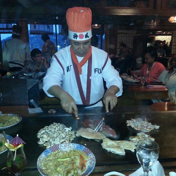 Photo taken at Mt. Fuji Japanese Steak House by Stephanie on 2/17/2013