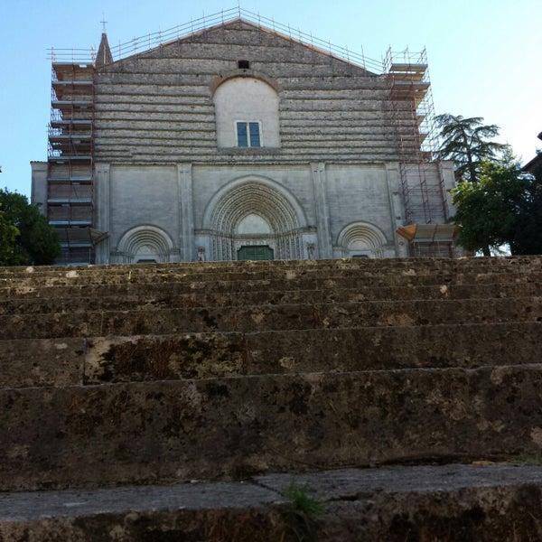 Photo taken at Basilica di San Fortunato by Antonella M. on 9/27/2014