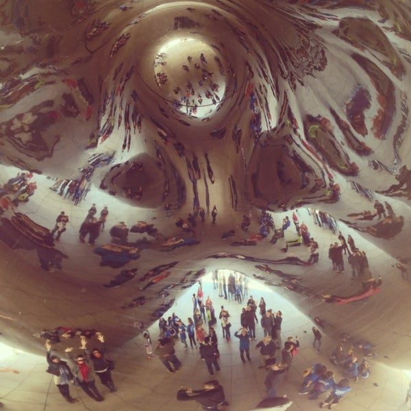 Photo taken at Cloud Gate by Anish Kapoor by Brandace C. on 5/24/2013
