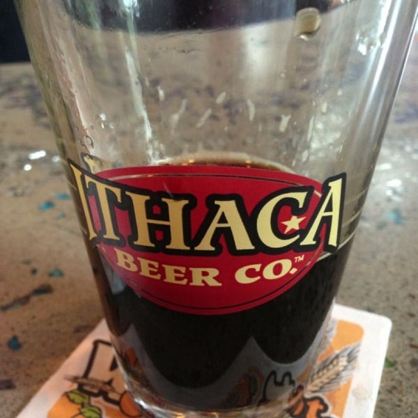 Photo taken at Ithaca Beer Co. Taproom by Barbara E. on 5/11/2013