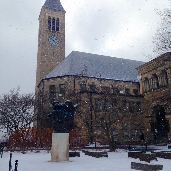 Photo taken at Uris Library by David O. on 1/25/2015