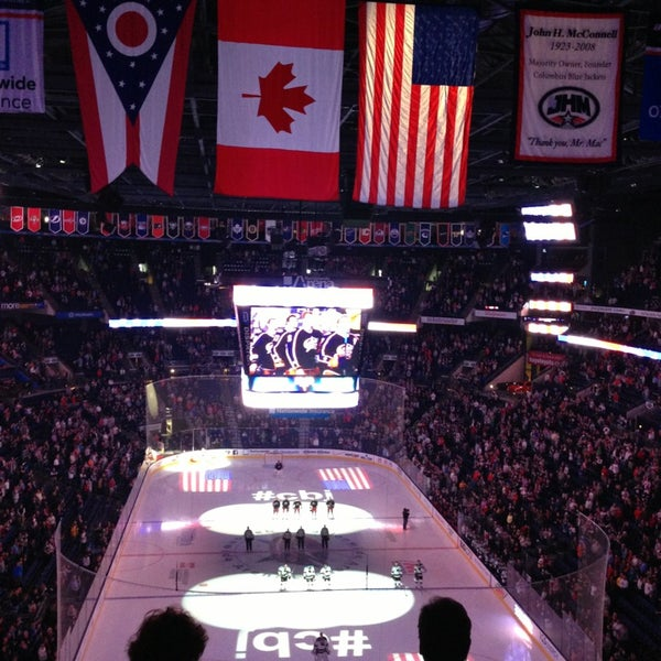 Photo taken at Nationwide Arena by Johanna J. on 4/9/2013
