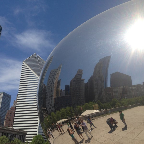 Photo taken at Cloud Gate by Anish Kapoor by pinky l. on 5/16/2013