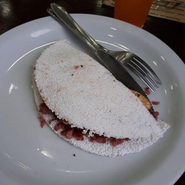 Tapioca calabresa com queijo branco maravilhosa😍😍😍