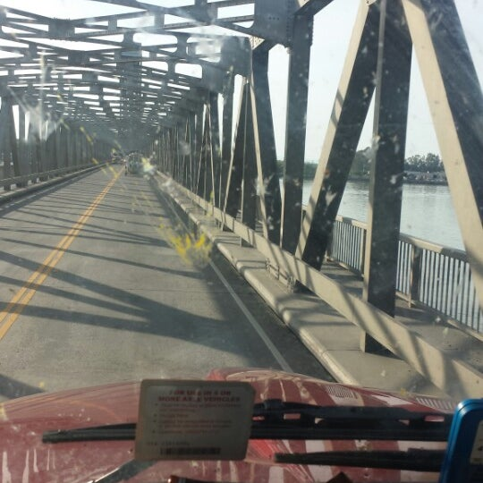 Photo taken at Rio Vista Bridge by Damon D. on 4/9/2014