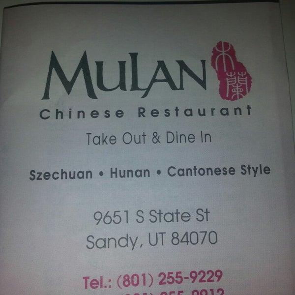 Photo Taken At Mulan Chinese Restaurant By Katrina E On 5 17 2017