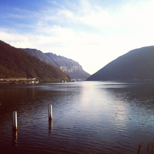 Photo taken at Lago di Lugano by DerCaravaner on 12/21/2011