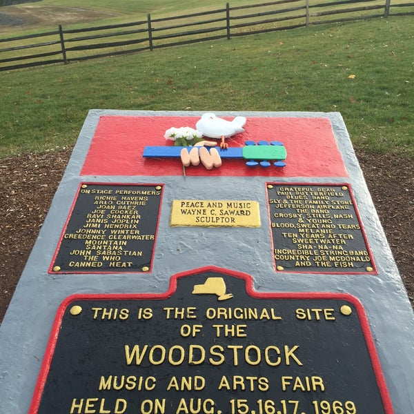 Photo taken at Woodstock Festival Concert Site/Monument by Vitaliy P. on 12/24/2015