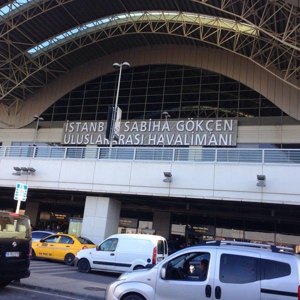 Photo taken at Istanbul Sabiha Gökçen International Airport (SAW) by Hard L. on 10/20/2013