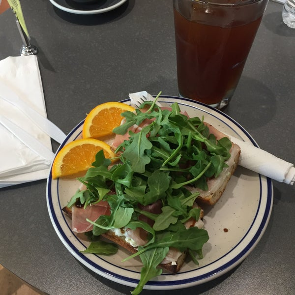 Great prosciutto sandwich! The bread was one of the best I've had! Don't forget to try the walnut brownie along with their Persian Nectar Iced Tea
