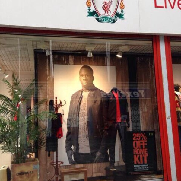 Photo taken at Liverpool FC Official Club Store by Ayed A. on 3/4/2014