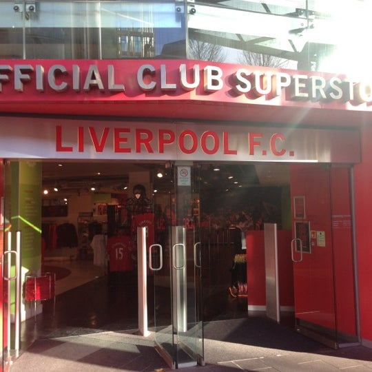 Photo taken at Liverpool FC Official Club Store by Lambros K. on 2/11/2014