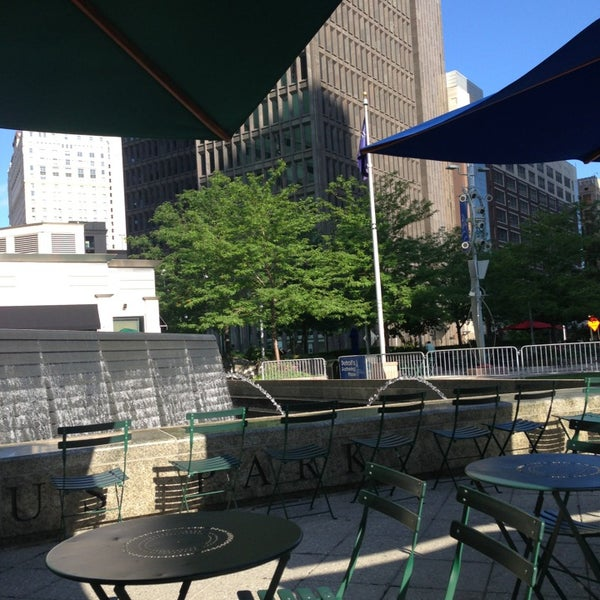 Photo taken at Campus Martius by Rita B. on 7/13/2013