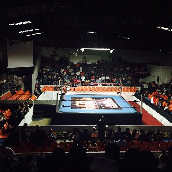 Photo taken at Arena Adolfo Lopez Mateos by Luisito M. on 6/14/2015