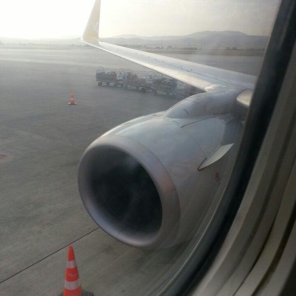 Photo taken at Ankara Esenboğa Airport (ESB) by Serbay A. on 8/19/2013