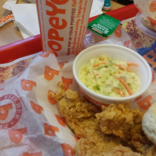 photo taken at popeyes louisiana kitchen by christopher g on 162016 try a spicy chicken breast - Popeyes Louisiana Kitchen Spicy Chicken Breast